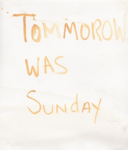 tommorow was sunday